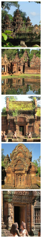 Banteay Srei Buildings Collage