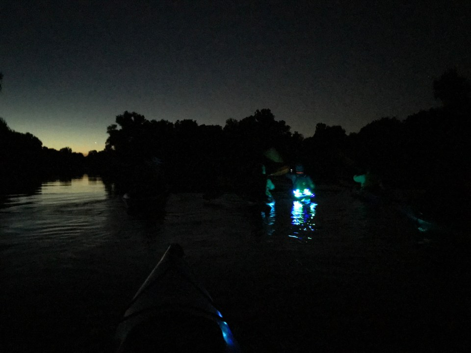 Paddling in the dark