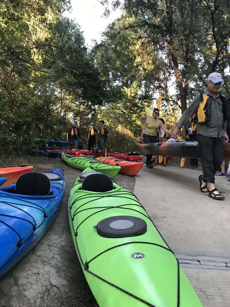 Bringing kayaks to the water