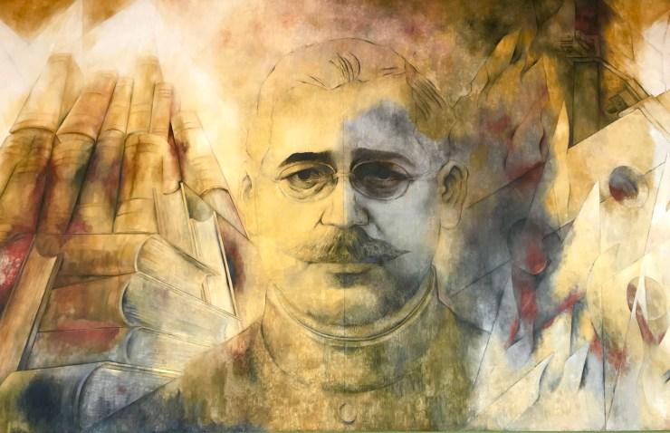 Salvador Alvarado painting