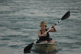 Sondra in the Kayak