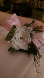 My Corsage, Harley Made it with A gardenia.