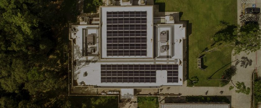 Hindu temple of the woodlands commercial solar installation provided by sunshine renewable solutions