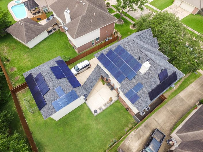 Pasadena Texas Roof Solar Energy System Installed