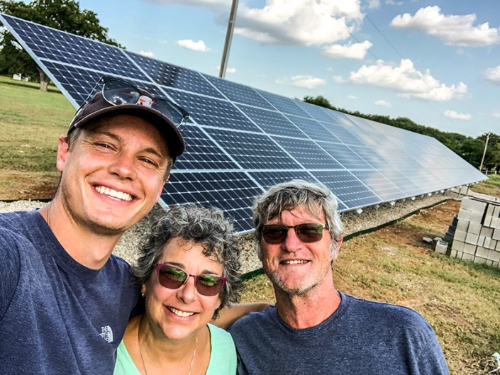 Satisfied Customers with their Solar Panel Install provided by Sunshine Renewable Solutions