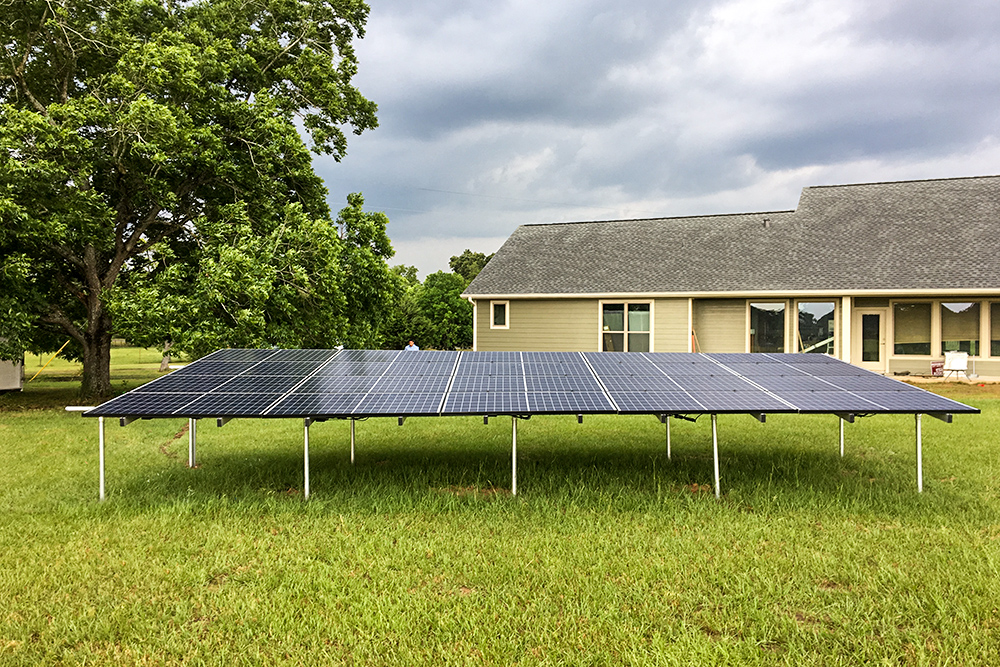 Ground Mounted Solar Energy Set Up in College Station
