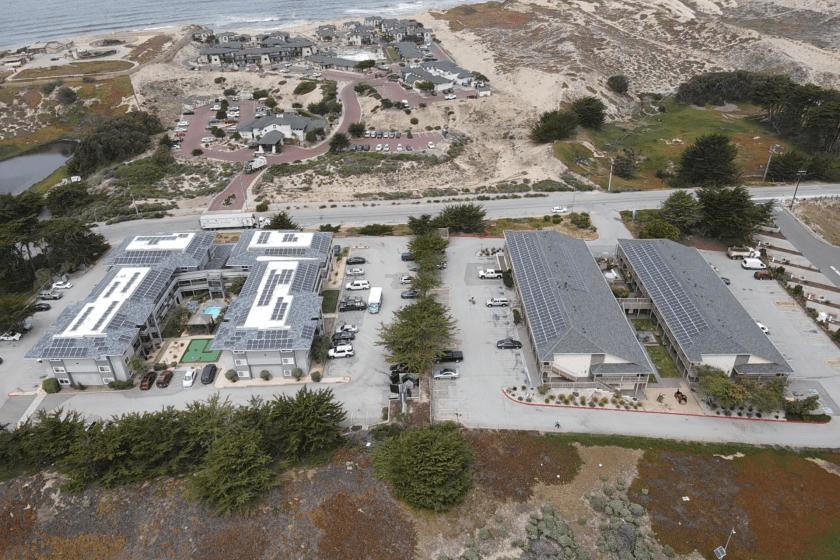 california hotel solar panel installation