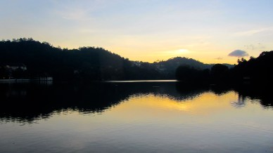 Sunrise over Kandy Lake