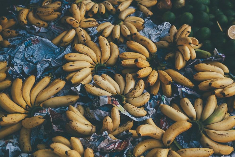 Bananas at Ahangama market