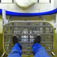 matt on poling platform
