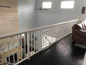Custom balcony and stair railing