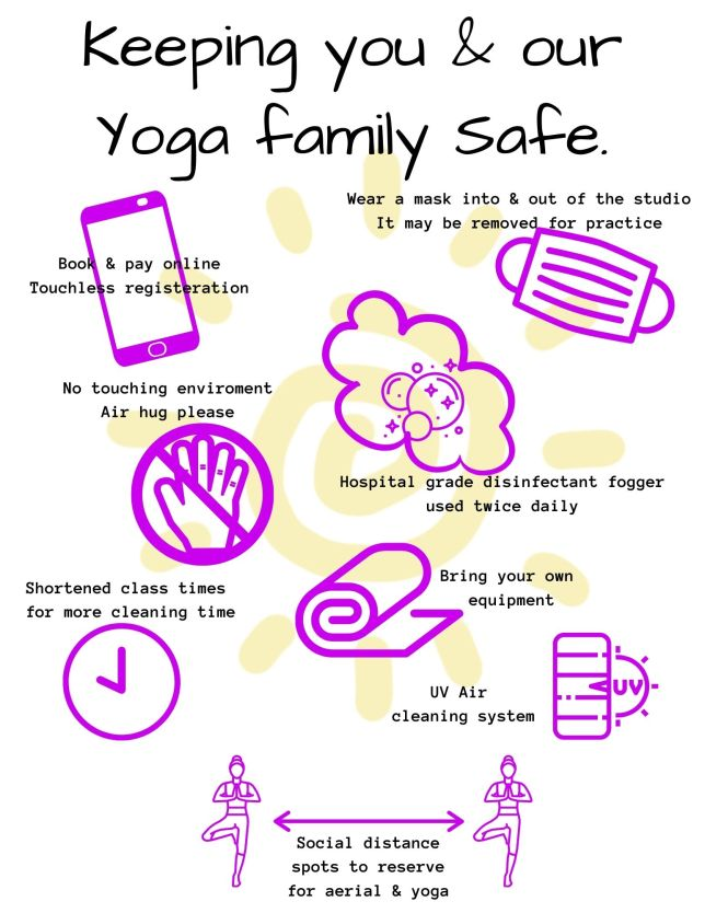Keeping you & our Yoga Family Safe.