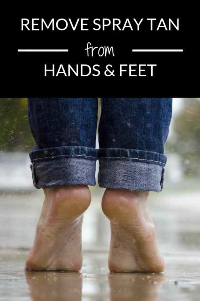 How to remove spray tan from your hands and feet SunSpray blog post
