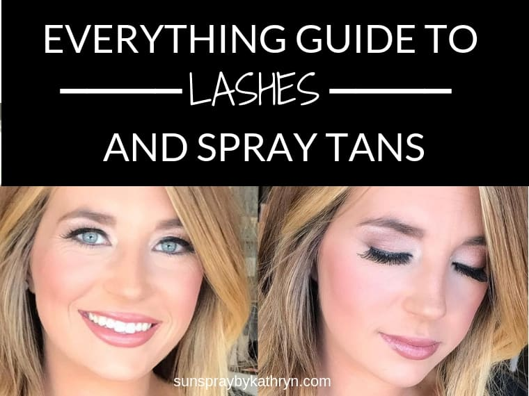 SunSpray by Kathryn's Guide to Eyelash Extensions and Spray Tans
