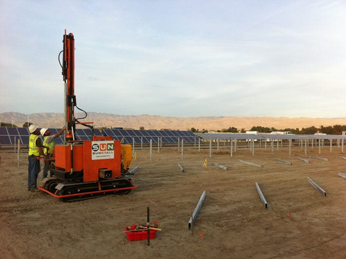 ground mounted solar systems, solar installation, fence installation, sunstall, sunstaller, sunstallation, solar pile driving, single axis tracker installation, fixed tilt rack installation, solar installer, licensed solar installer, PV installer, commercial solar installer, utility solar installer