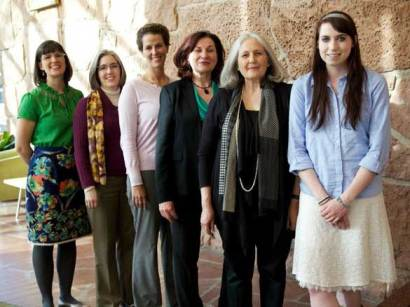 The force behind Ordain Women: from left, Kate Kelly, Mary Ellen Robertson, Debra Jenson, Margaret Toscano, Lorie Winder Stromberg, Hanna Wheelwright.
