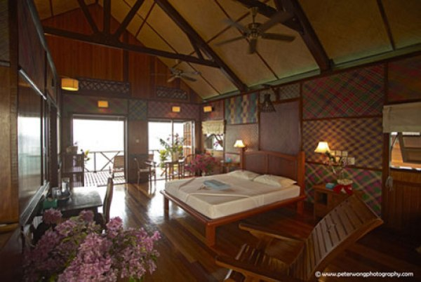 best luxury beach resorts in Malaysia sipadan resort water villa