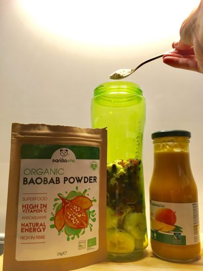 DELICIOUS IMMUNE BOOSTER SMOOTHIE RECIPE BAOBAB POWDER
