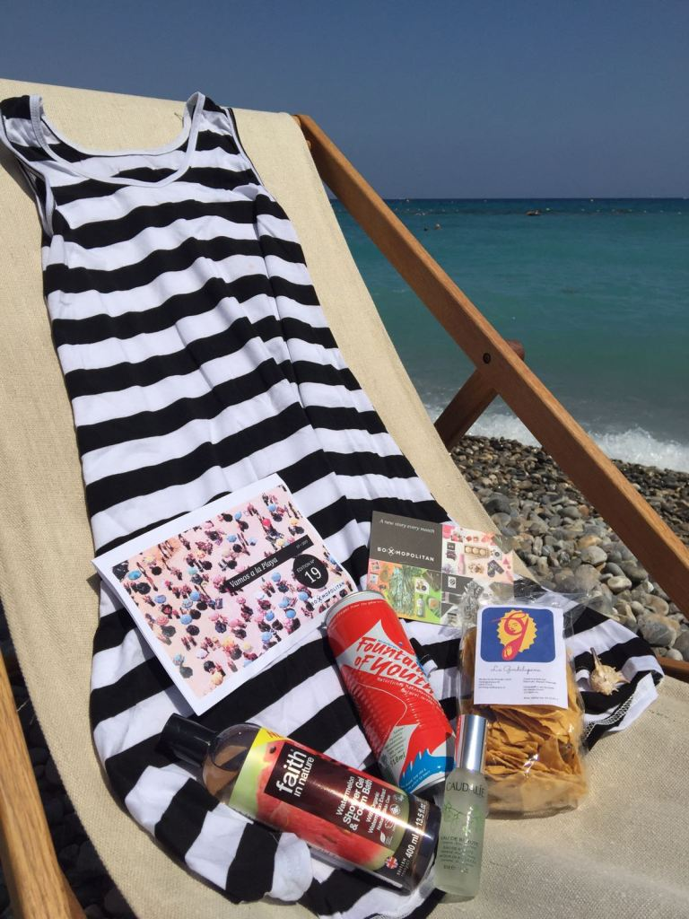 An entire box filled with monthly surprises with Boxmopolitan Giftboxes. summer beach essentials