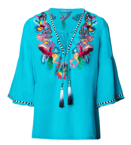 STAND OUT WITH MATTHEW WILLIAMSON BEACHWEAR tribal kaftan