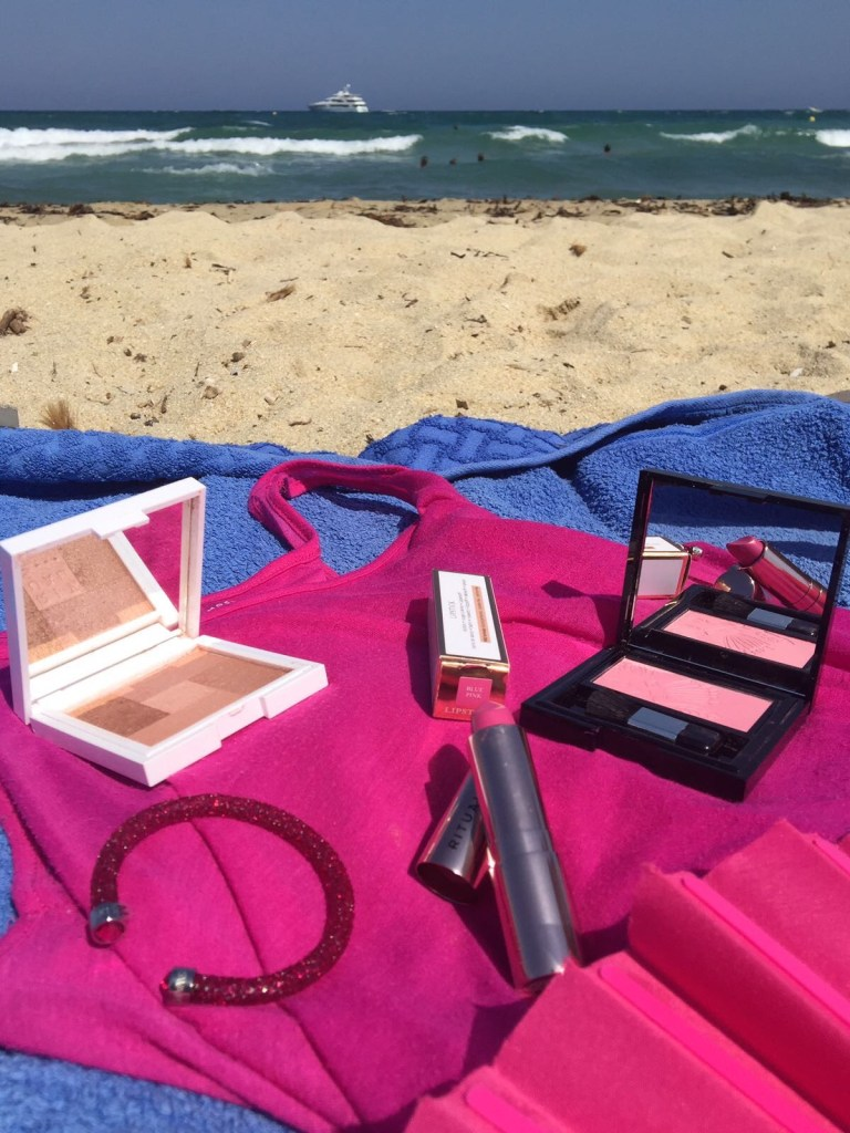 COLOURS OF SUMMER FEATURING PINK BEACH BEAUTY swarovski bracelet, rituals cosmetics