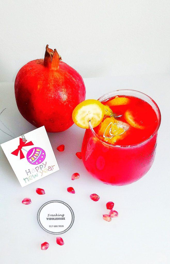 pomegranate kumquat ginger punch