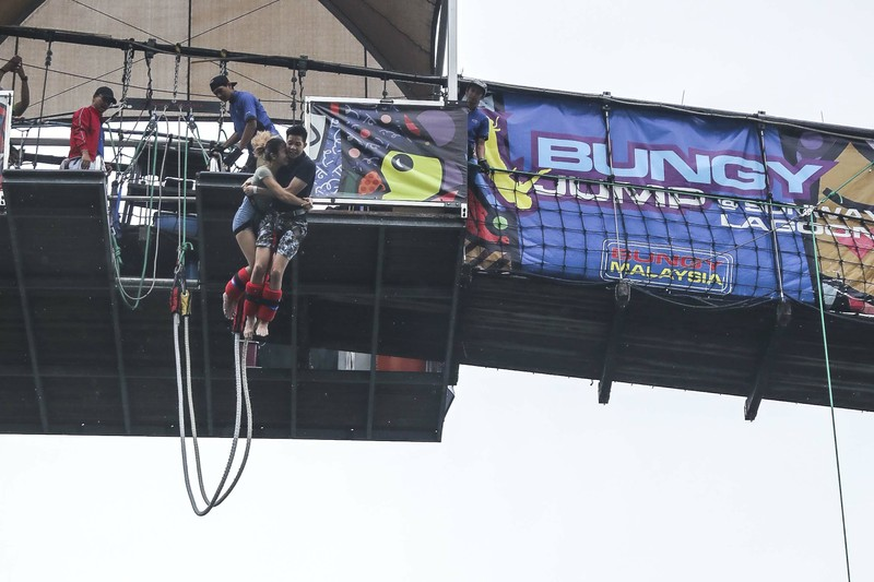 double the fun at sunway lagoon bungy