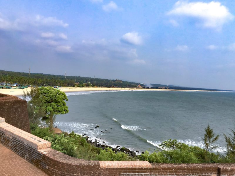 view of Bekal Fort Beach from the fort