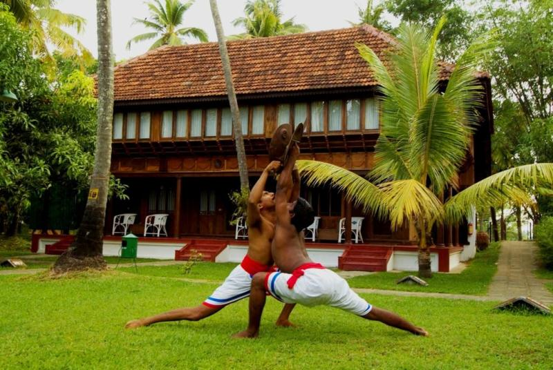 warriors demonstrating the kalari martial art