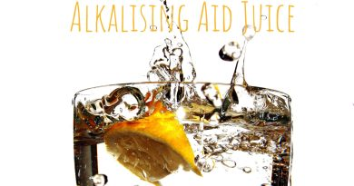 alkaline aid juice recipe cover photo with lemon splashed into a glass of water