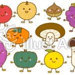 秋の果物に関する無料イラスト