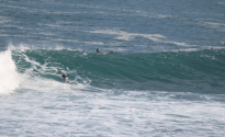 Left hand wave, sequence shot of a turn and barrel