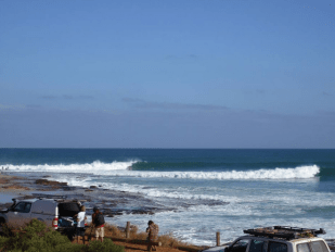 Surfs up at Jakes point