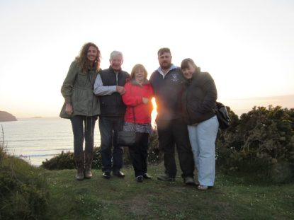 Group shot in Little Haven
