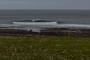Surf at the reef break in Bundoran