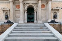 Stairs to a grand building