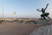Statues at the citadella atop the hill