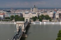 Chain bridge from above