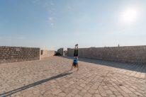 Tegan doing a handstands in the city walls