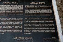 Anzac Cove memorial plaque