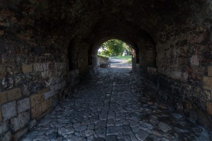 Stone tunnel under the fort