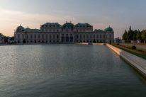HUGE pond outside Belvedere Palace