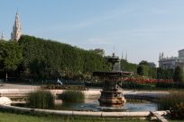 Water feature in the gardens