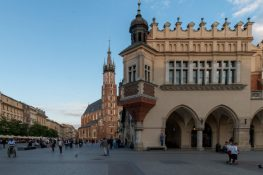 Buildings of old town krakow