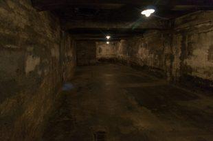 Inside a gas chamber