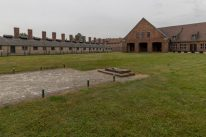 Inside Birkenau where the jews where led to be gassed