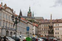 Prague castle in the distance