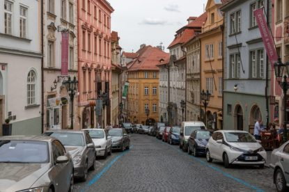 Colourful buildings in Prague