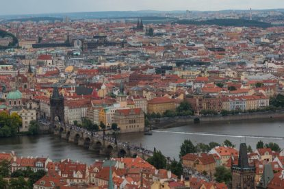 View from St Vitus Cathedral- So many orange roofs!