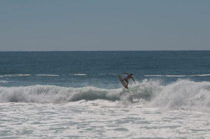 Teca getting some air